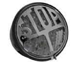 "MILLER Style LED Stop/Tail Light ""Oldtimer"" Black Housing Clear Lens."
